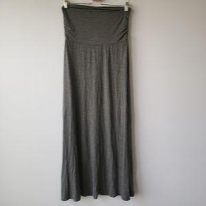 Bobeau charcoal gray maxi skirt size L